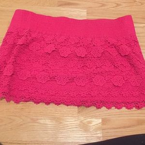 Abercrombie & Fitch Skirts - Pink lace skirt
